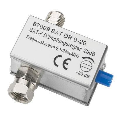 Attenuator for Adjusting the input signals at Setellite or Cable systems