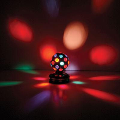 Rotating Disco Ball 4 Colours Free Standing