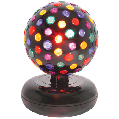 Rotating Disco Ball, 5 Colours, Free Standing