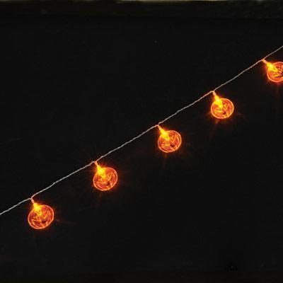 String Lights Music : Pumpkin LED Battery Operated String Lights 1.75M