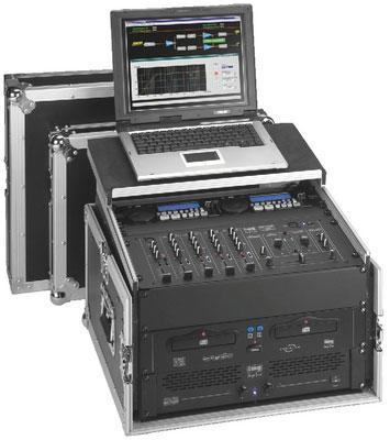 Img stageline mr 106pc 6u 19 flight case with pull out for a laptop