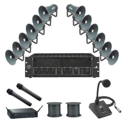Pa Package 5 12 Horn Speakers 480w Amplifier Many