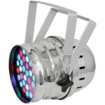 High Power 36 x 3W LED PAR 64 CANS RGB LCD - Chrome & Black