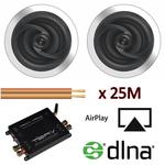 Aton Ceiling Speakers with Airplay DNLA Amplifier with Cable