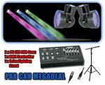 PAR CAN MEGADEAL - 2 x PAR 56 Lights, DMX Controller, Cables and 3.5m T-Bar Stand!