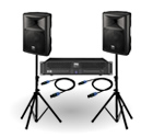 Complete PA Systems Public Address Speakers, Microphones, Amps & Cables