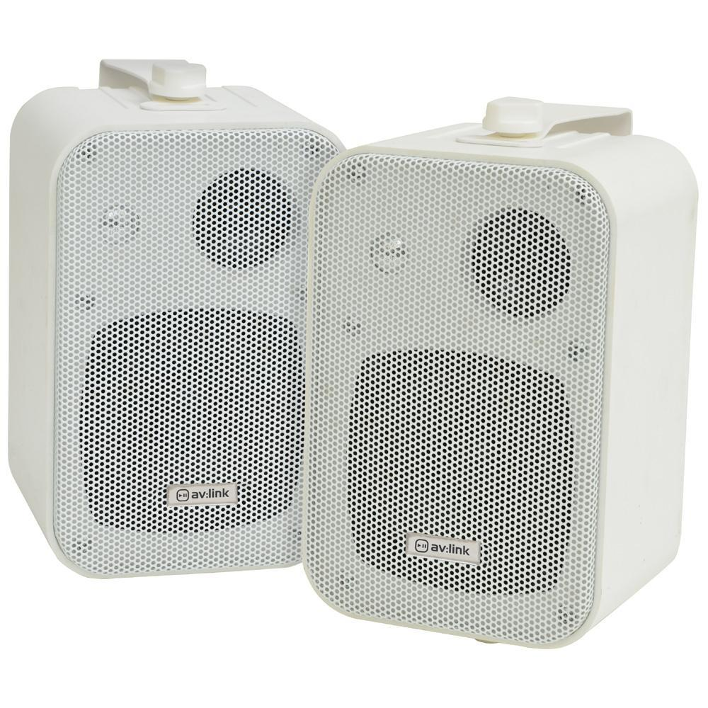 Stereo 3 Way Wall Mount Speakers 8 Ohm 60w Max Pair