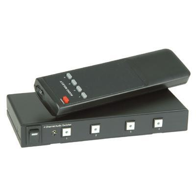 4Way Stereo Audio Switcher With IR Remote Control