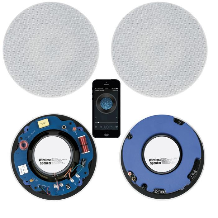 Wifi Or Ethernet Wired Ceiling Speakers App Controlled