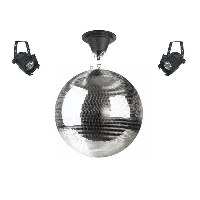 Professional 50cm Rotating Large Mirror Disco Ball With 2