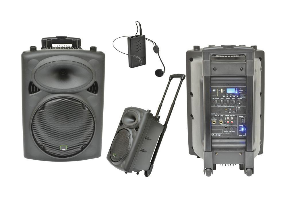 portable pa system 150w with wireless microphone. Black Bedroom Furniture Sets. Home Design Ideas