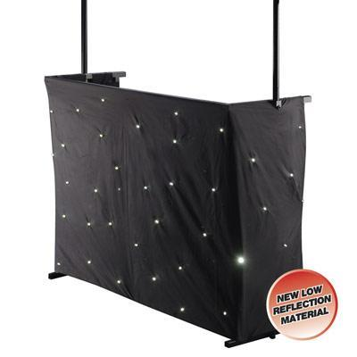 ledj dj skirt star cloth 2 2m x 1m with 50 white leds. Black Bedroom Furniture Sets. Home Design Ideas