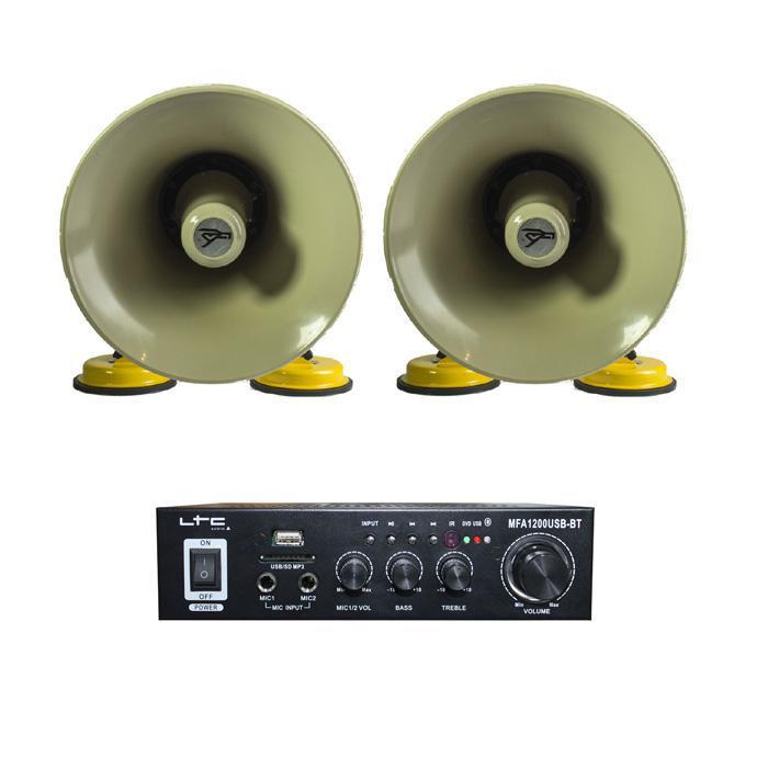 roof mountable horn speakers     amplifier
