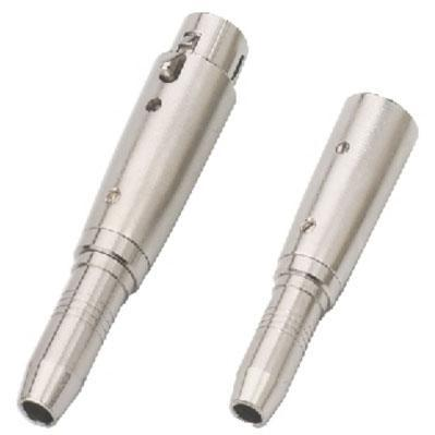 Adapters XLR 6.3mm Stereo Female Nickel Plated, Metal Body