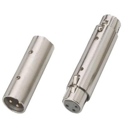 Adapter XLR/XLR Nickel Plated Metal Body