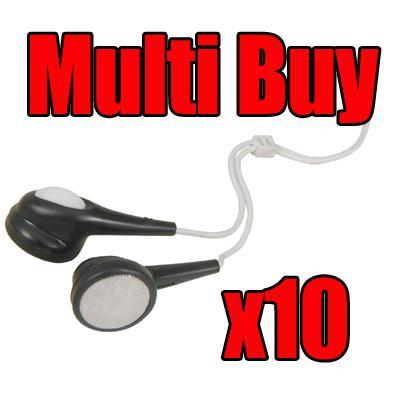 <b>Multi Buy: 10x</b> Digital Jelly Stereo Earphones - Various Colours