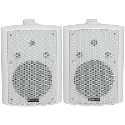 "QTX 90W Stereo Background Speakers 8"" (Pair) - Black Or White"