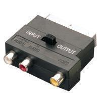 SCART Adaptor, Stereo Audio & Video In/Out - Gold Plated