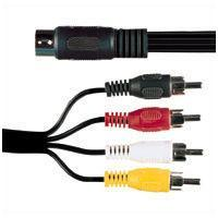 5 Pin Din Socket To 4 X RCA Phono Plugs 0.2M