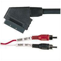 Scart Plug To 2 X RCA Phono Plugs - 2m
