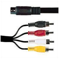 5 Pin Din Plug To 4 X RCA Phono Plugs 1.2m
