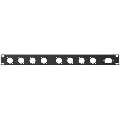 RCP-8734U Rack Panel Punched Holes 8 x D Series IEC Plug 1RS
