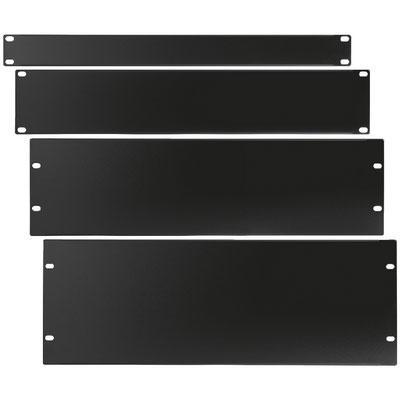 "482mm 19"" Rack Panels 1.5mm Steel Black Plastic Coating"