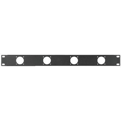 RCP-8736U Rack Panel Punched Holes 4 x Speakon Chassis Connector 1RS