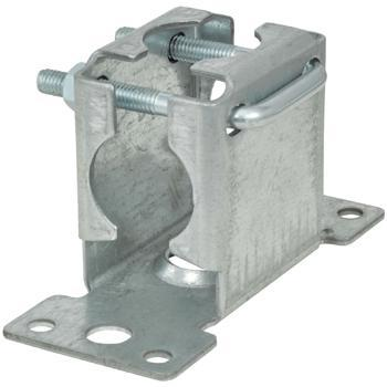 Pressed Facia Mast Bracket With Clamp