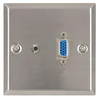 Thru-VGA and Audio Wallplate ST