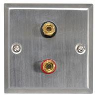 Speaker Wallplate for a Single Speaker Steel