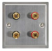 Speaker Wallplate for a Pair of Speakers - Steel
