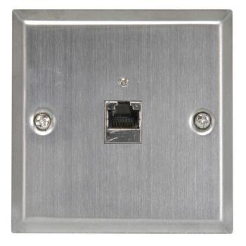 Cat5e RJ-45 Wallplate Steel