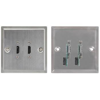 HDMI x 2 Wallplate Steel