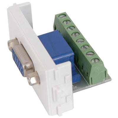 VGA Wallplate Module with Screw Terminals