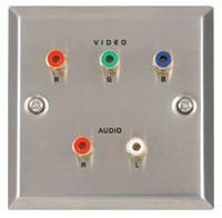 RGB Component Video/Audio Steel Wallplate