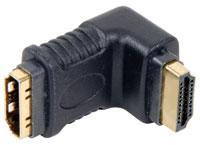 HDMI Right Angled Coupler Plug to Plug