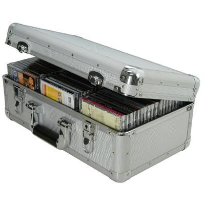 Robust Aluminium Flight CD Case Holds 60 CDs