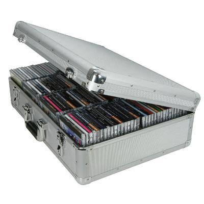 Robust Aluminium Flight CD Case Holds 120 CDs
