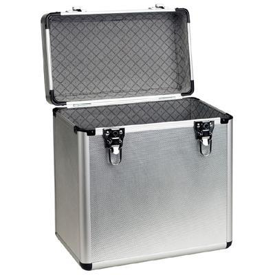 Deluxe Aluminium Vinyl Flight Case holds 50 x 12´