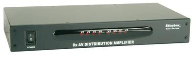 8-Way A/V distribution amplifier