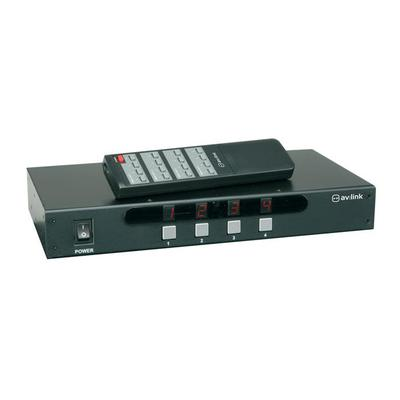 4 x 4 AV Matrix Switcher With IR Remote Controler