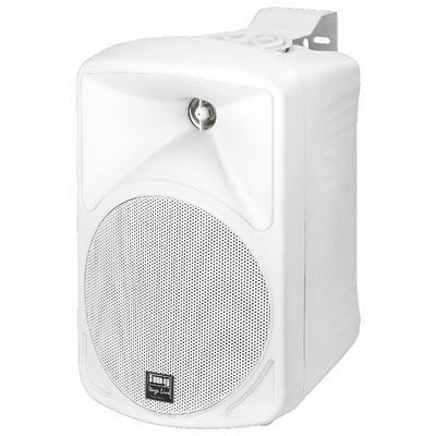 IMG Stageline PAB-58/WS Wall Mount PA Speaker 50W 8 Ohm - White - Pair