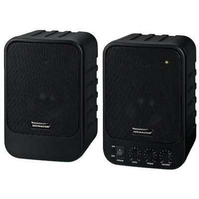 Monacor MKA-40SET/SW Compact Active 2-Way Stereo Speaker 15W Max. 2x10W RMS