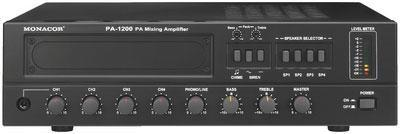 PA-1200 4 Zone Mono PA Mixing Amplifier 120W Rms