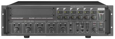 PA-6240 6-Zone Mono PA Mixing Power Amplifier 240W RMS