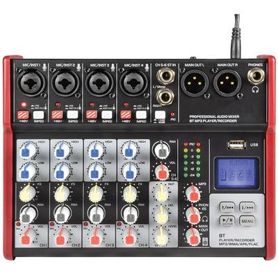 Citronic CSM-6 4 6 Channel Mixer with USB and BT