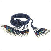 8 Way 6.35mm (1/4') STEREO To MONO Jack Wiring Loom 3m