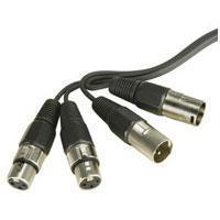 2 x XLR Plugs To 2 x XLR Sockets <b>(0.5m)</b>