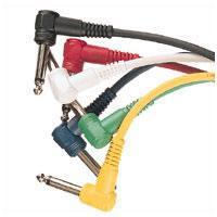 6 Coloured Patch Leads Various Lengths
